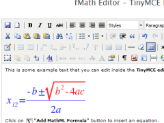 fMath Editor - TinyMCE Plugin 1.5.1 Screenshot