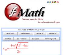 fMath Formula - GWT Widget 1.5.1 Screenshot
