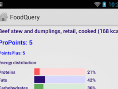FoodQuery Propoints Pro 1.3 Screenshot