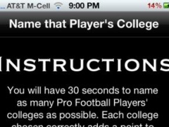 Football Player College Quiz 1.1 Screenshot