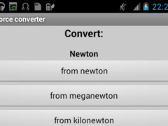 Force converter 2.1 Screenshot