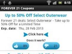 Forever 21 coupons 1.0 Screenshot