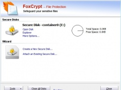 FoxCrypt File Protection standard 2.0.1 Screenshot