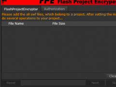 FPE(Flash Project Encryptor) 5.2.7 Screenshot