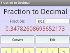 Fraction to Decimal Pro 1.0 Screenshot
