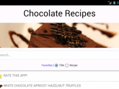 Free Chocolate Recipes 1.1 Screenshot