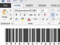 Free Code 39 Barcode Font 14.08 Screenshot