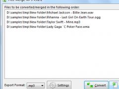 Free Merge MP3 7.8.3 Screenshot