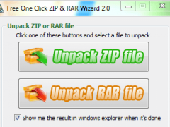 Free One Click ZIP and RAR Wizard 2.0 Screenshot