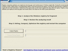 Free Registry Defrag 3.00 Screenshot