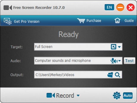 screen recorder software for pc free download