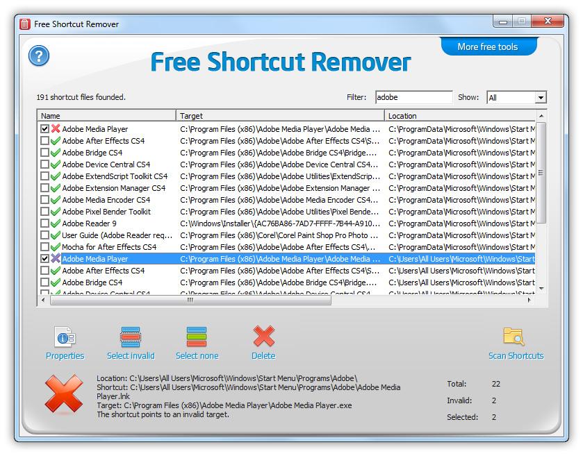 shortcut remover gratuit