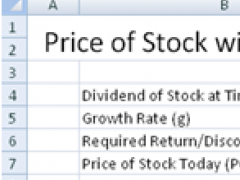 Free Stock Equity Valuation Spreadsheet 1.0 Screenshot