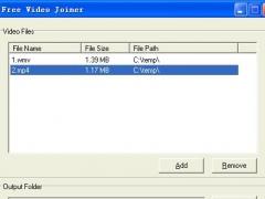 Free Video Joiner 1.1 Screenshot