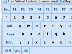 Free Virtual Keyboard 3.0 Screenshot