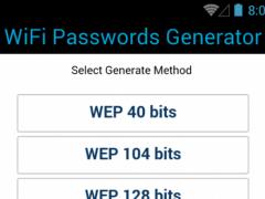 Free WiFi Passwords Generator 0.0.1 Screenshot