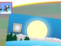 Frozen Ice Snow Board Race- Happy Dodge Action 1.0 Screenshot