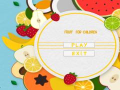 Fruit For Children 1.0 Screenshot