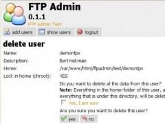FTP admin 0.1.0 Screenshot