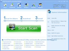 FUJITSU Drivers Download Utility 3.6.3 Screenshot