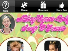 Fun game for Miley Cyrus' Fan - Quiz about Hannah Montana Songs up to Videos and Latest News 3 Screenshot