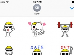Funny Egg Stickers Pack for iMessage 1.1 Screenshot