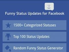 Funny Status for Facebook LITE 1.2 Screenshot