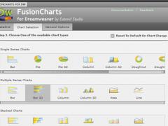 FusionCharts for Dreamweaver - Designer Edition 1.0.0 Screenshot