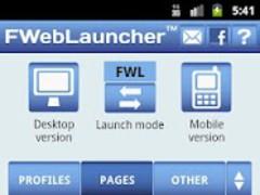 FWebLauncher for Facebook web 2 3 2 Free Download