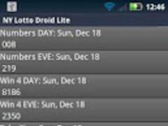 GA Lottery Droid 1.08 Screenshot