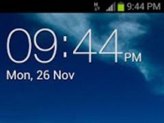 Galaxy Clock Widget 1.1 Screenshot