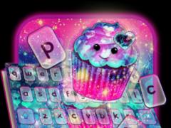 Galaxy Cupcake Keyboard Theme 10001003 Screenshot