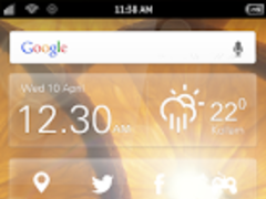 Galaxy S4 Orange LWP 1.0 Screenshot