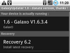 GalaxyUpdater Full 1.09 Screenshot