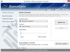 GameGain 4.7.24.2017c Screenshot
