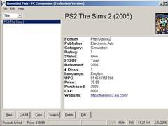 GameList Plus 4.5.9 Screenshot