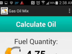 Gas Oil Mix Calculator 1.4.1 Screenshot