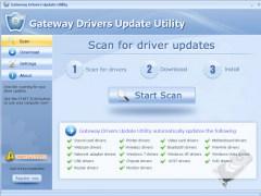 Gateway Drivers Update Utility 9.7 Screenshot