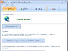 Gateway Laptop to Hotspot Converter 9.7 Screenshot