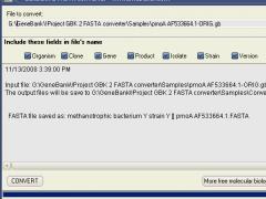 GenBank to FASTA converter 1.4 Screenshot