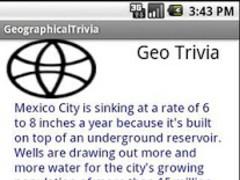 Geographical Trivia 1.0 Screenshot
