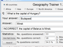 Geography Trainer 1.3.5 Screenshot
