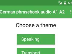 German phrasebook audio A1 A2 1.3 Screenshot