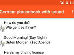 German phrasebook with sound 1.3 Screenshot