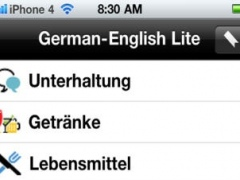 German to English Voice Talking Translator Phrasebook EchoMobi Travel Speak LITE 3.04 Screenshot