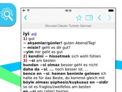 German Turkish Slovoed Classic talking dictionary 3.58.290 Screenshot