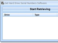 Get Hard Drive Serial Numbers Software 7.0 Screenshot
