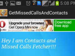 Get MissedCalls And Contacts 1.0 Screenshot