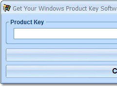 Get Your Windows Product Key Software 7.0 Screenshot