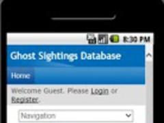 Ghost Sightings Database 0.1 Screenshot